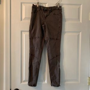Mossimo Grey/Brown Mid Rise Moto Skinny Jeans 00